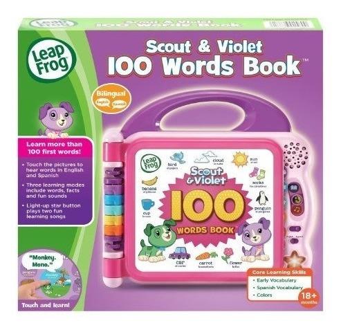 leapfrog  libro  bilingue 100 palabras 2 idiomas envio ya