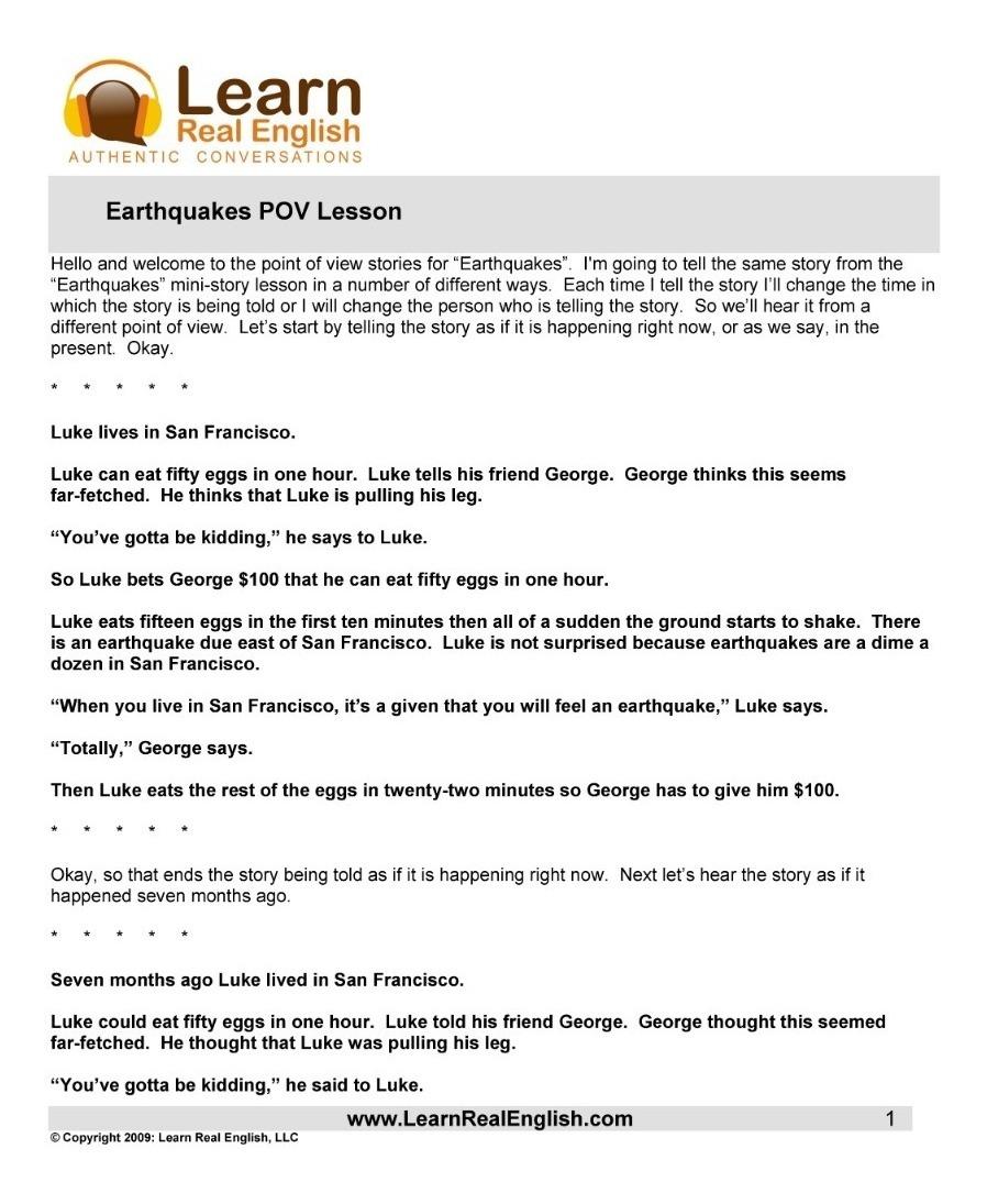 Learn Real English Conversation - Áudio + Transcrição
