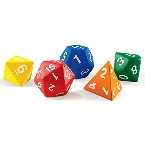 learning resources jumbo foam polyhedral dice