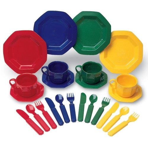 learning resources play dishes, set de 24 piezas