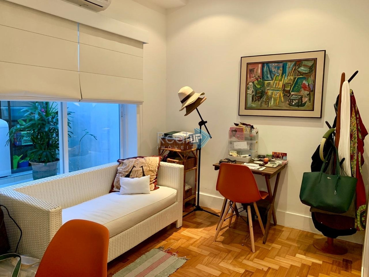 leblon apartamento 2 quartos com dependência e vaga na escritura - 16695