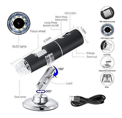 leboo microscopio digital con wifi usb cámara hd 1080p de 2