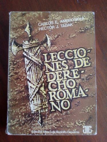 lecciones de derecho romano ambrosioni