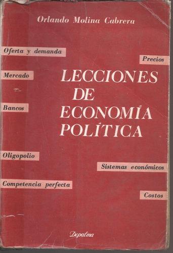 lecciones de economía política molina cabrera
