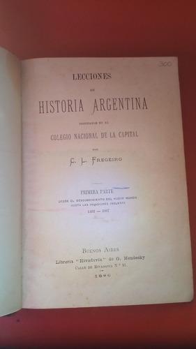 lecciones de historia argentins/ c.l fregeiro