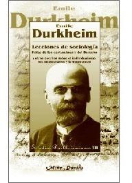 lecciones de sociología. durkheim (myd)