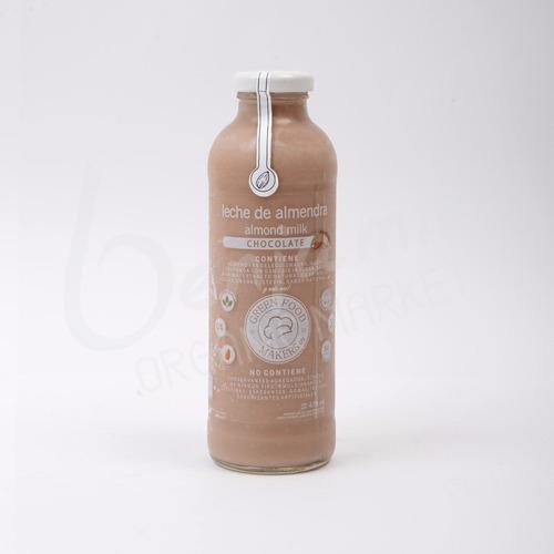 leche de almendras chocolate green food makers 475ml