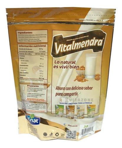 leche de almendras en polvo 400 grs vitalmendra allnat.