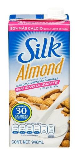 leche de almendras vainilla silk sin endulzante, 6 piezas