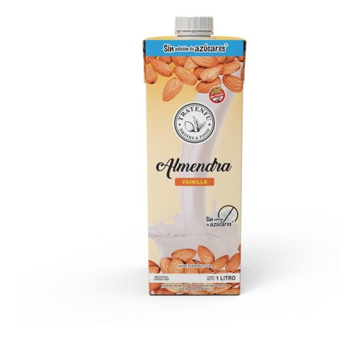 leche de almendras vainilla sin azúcar x8 unidades