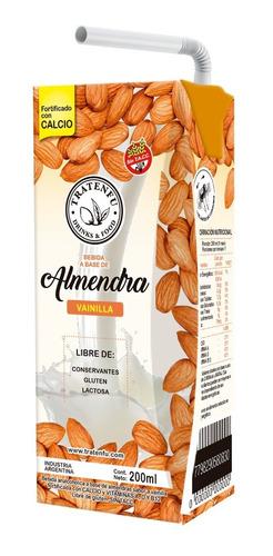 leche de almendras vainilla tratenfu x18u 200 ml