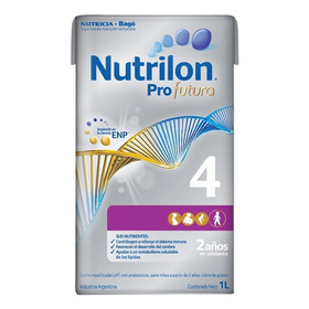 Leche De Fórmula Líquida Nutricia Bagó Nutrilon Profutura 4 Por 6 Unidades De 1l