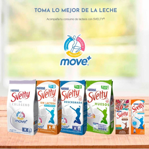 leche en polvo svelty® colágeno 500g pack x2