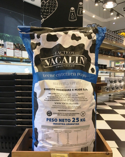 leche en polvo vacalin x 25 kg vacalin liniers