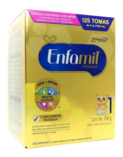 leche enfamil premium 1 de 1650 gr