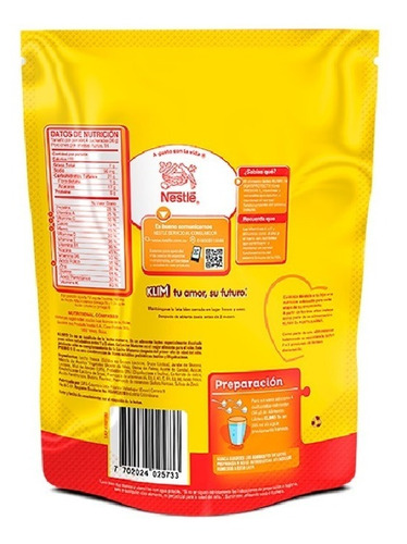 leche klim 1+ fortiprotect x 500 gr