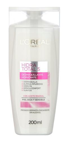 leche limpieza piel seca sensible loréal paris hidra total 5