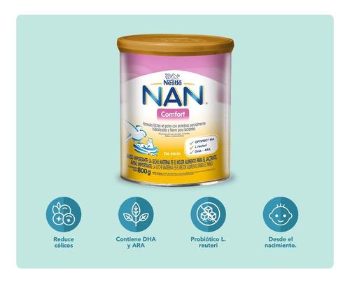leche nan comfort 800g tarro fórmula infantil