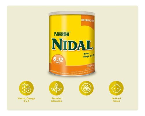 leche nidal 2 continuación 800g tarro fórmula infantil