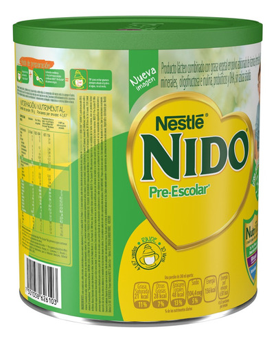 leche nido 3+, lata 1.5kg para bebe niño y niña (1pz)