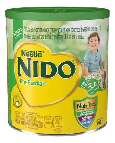 leche nido 3+  lata 800gr para bebe niño y niña