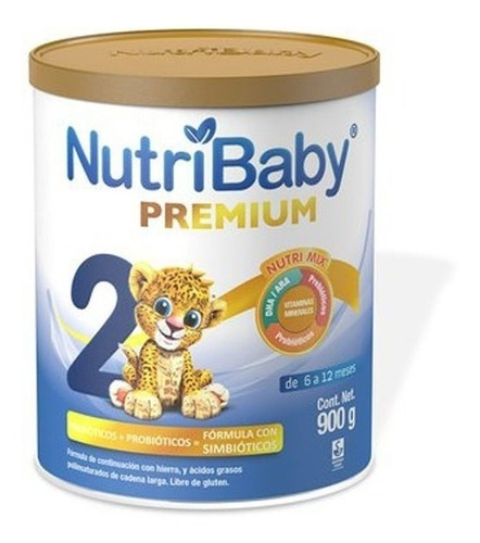leche nutribaby 2 premium 6 a 12 meses x 900g nutri baby