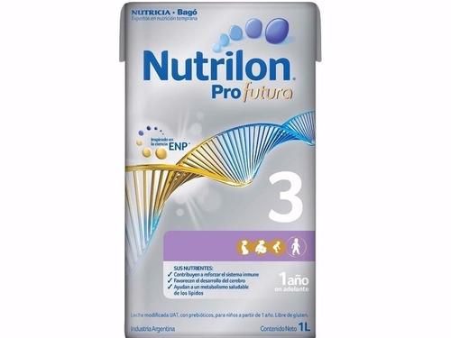 leche nutrilon 3 x 1 litro