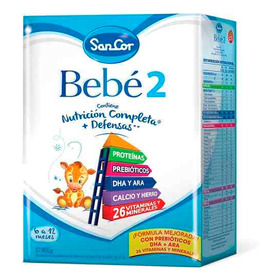 Leche Sancor Bebe 2 (6 A 12 M) Nutricion Polvo X 800 Grs