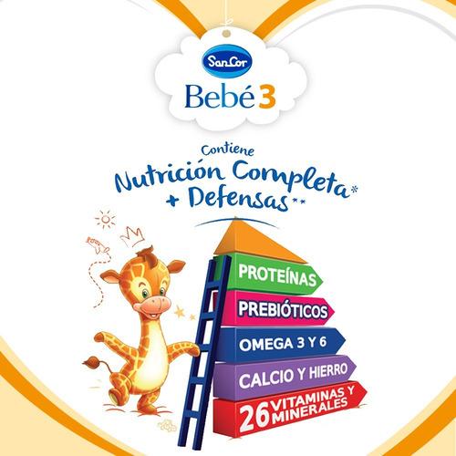 leche sancor bebe 3 nutricion completa 1lt x 24 unidades