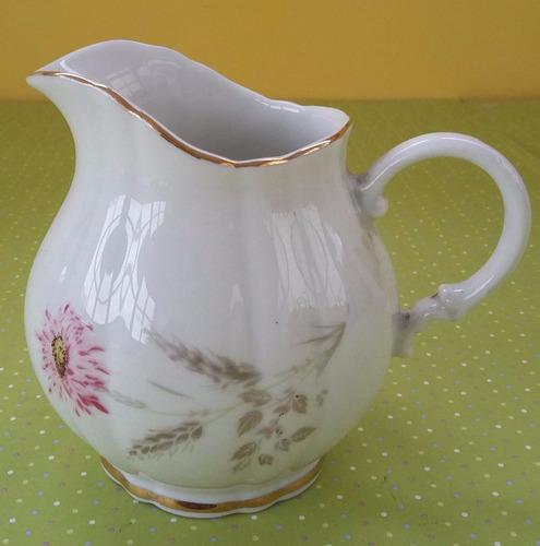 lechera / cremera de porcelana verbano bouquet flor- palermo