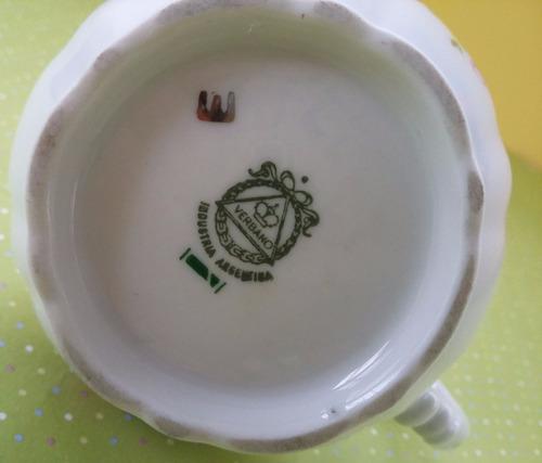 lechera / cremera de porcelana verbano shabby chic - palermo