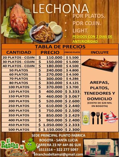 lechona tolimense - kg a $1000