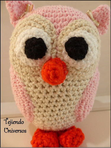 lechuza tejida al crochet 100% artesanal