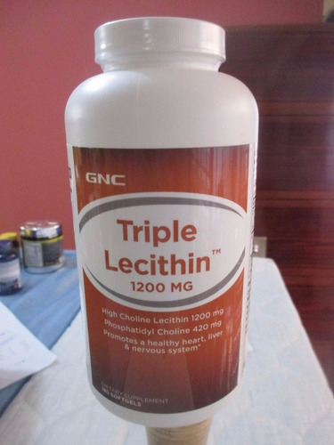 lecitina triple lecithin 1200 mg marca gnc de 180 unidades
