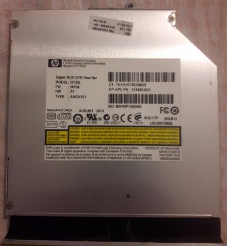 lectograbadora dvd notebook hp dv5 2133la