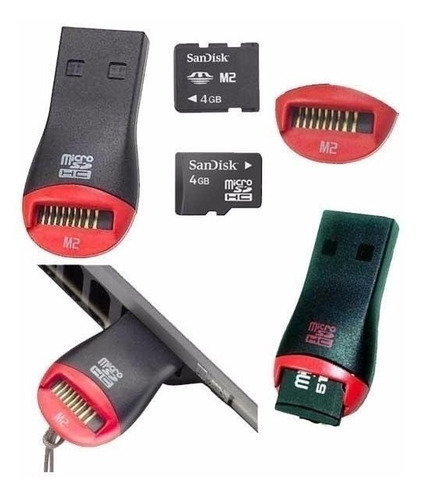lector adaptador de memoria micro sd  usb 2.0