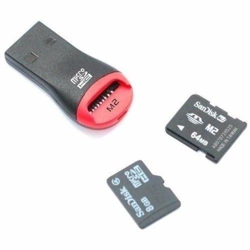 lector adaptador m2 micro sd a usb 2.0 480mbps 32 en 1