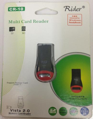 lector adaptador micro sd a usb nuevo! compu vichis