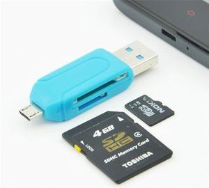 lector adaptador otg micro-usb celular pc memoria micro-sd