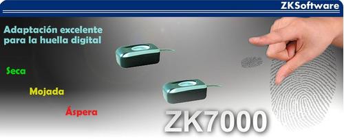 lector biometrico con sensor optico zk  resolucion 500dpi.