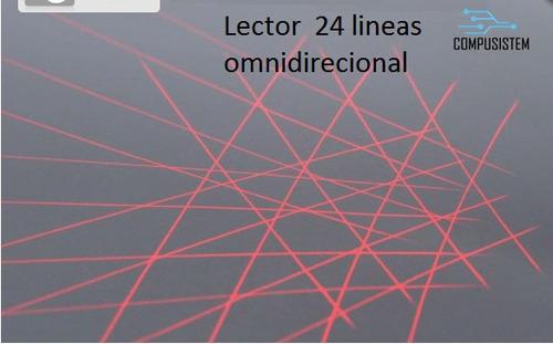 lector codigo de barras omnidireccional 20 lineas