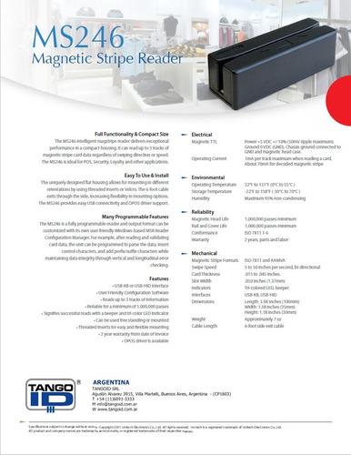 lector de banda magnética unitech original 3 pistas ms246
