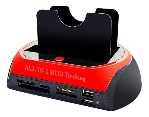 lector de discos duros usb todo en 1 hdd docking 2.0 - 3.0