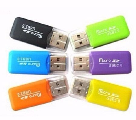 lector de memoria adaptador usb 2.0  tipo pendrive micro sd
