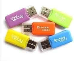 lector de memoria adaptador usb tipo pendrive microsd