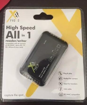 lector de memoria alta velocidad todo en uno marca xphoto
