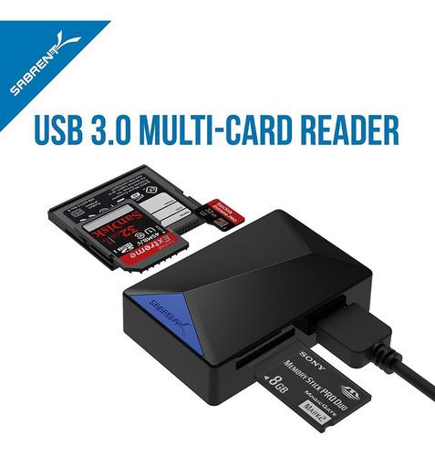 lector de memoria - sabrent - usb 3.0 - micro sd / sd / cf
