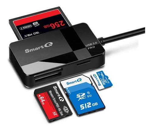 lector de memoria - smartq - usb 3.0 - micro sd / sd / cf