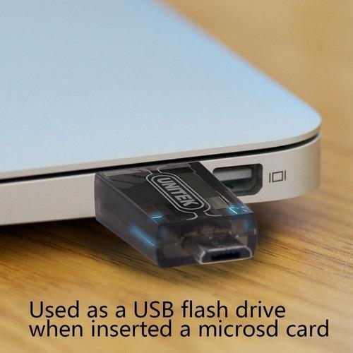 lector de memoria - unitek - usb 2.0 + otg - micro sd