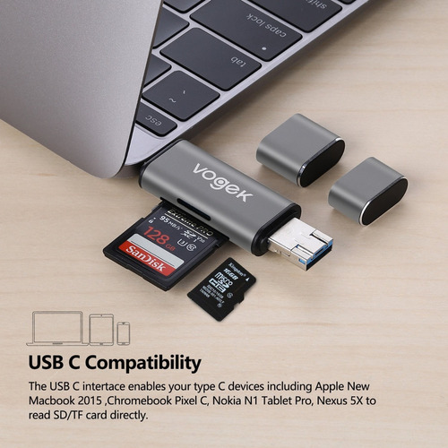 lector de memoria - usb 3.0 otg microusb / usb-c micro sd/sd